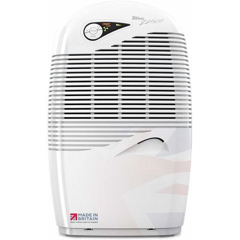 Ebac 2250e , 15 Litre Dehumidifier with Free 2 Year Warranty, White