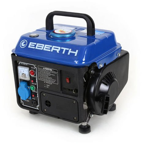EBERTH 2HP 1.47 kW Petrol generator 750W portable gasoline 2 stroke engine 63 cc