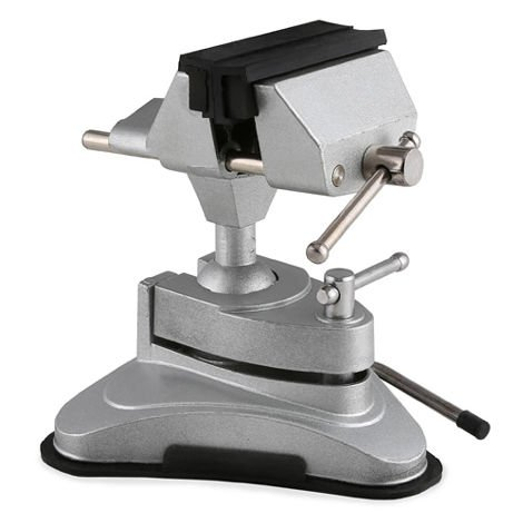 EBERTH Ball joint vice with suction base (75 mm Jaws, 70 mm Opening 360° Rotatable, Swivable)