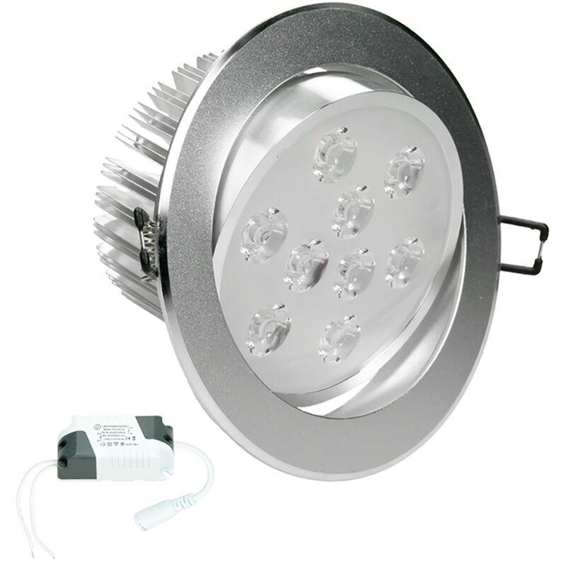 ECD Germany 1 x Faretti LED da Incasso Luci da Incasso a LED 9W 230V Rotondo ?13,5cm 668 Lumen Bianco Freddo 6000K Girevole 30 ? IP44 Lampada Alogena