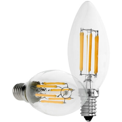 E14 E27 LED Lampe Kerze Birne Windstoß Leuchte Kolben Filament Vintage 2W 10W