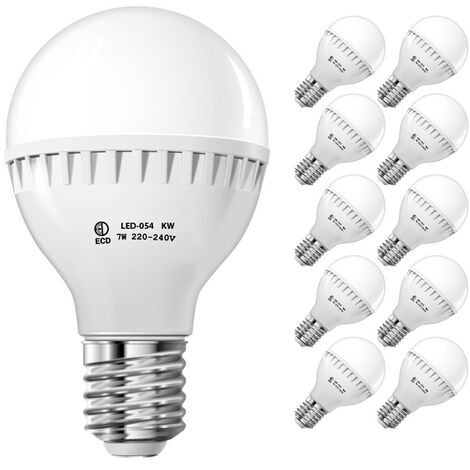 ECD Germany 10 x Bombilla LED E27 7W 240V 458 Lumens Blanco frío 6000K Ahorradoras de energía Sustiye lámpara de halógeno