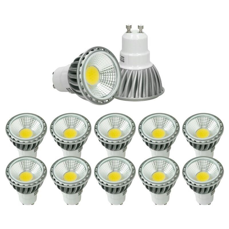 10 x Spot Lampadina LED GU10 COB 6W Faretti LED Lampada Alogena 30W 220-240V Faretto Spot Lampadine LED Dimmerabile Faretti LED da Soffitto 321 Lumen