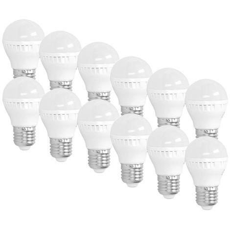 ECD Germany 12 x Bombilla Led 3W E27 - 6000 Kelvin blanco frío - 200 lúmenes - 220-240 V - lampara de techo - 25W - Bombillas de bajo consumo [Clase energética A +]