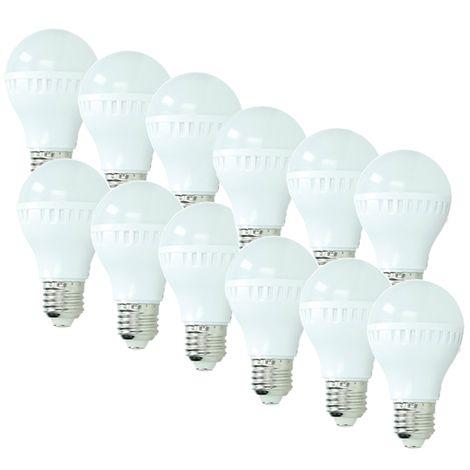 ECD Germany 12x Bombilla LED E27 5W 240V 335 lumens Reemplaza lámpara halógena de 40W blanco cálido Lámpara ahorradora de energía de 2800K