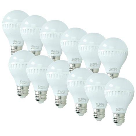 ECD Germany 12x Bombilla LED E27 7W 240V 458 lumens Reemplaza lámpara halógena de 45W blanco frío Lámpara ahorradora de energía de 6000K