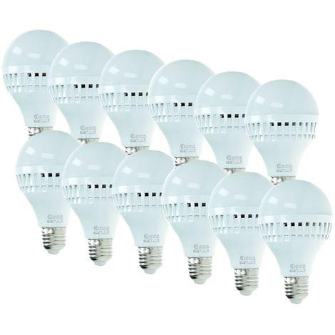 ECD Germany 12x Bombilla LED E27 9W 240V 584 lumens Reemplaza lámpara halógena de 60W blanco frío Lámpara ahorradora de energía de 6000K