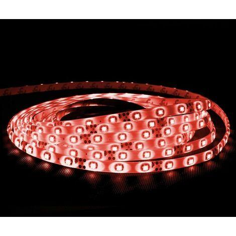 ECD Germany 15m 3528 SMD LED 12V 60 LED / m Franja Tira Cinta Banda Luz Franja Impermeable Rojo
