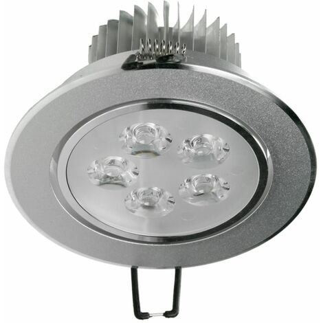 ECD Germany 1x Foco empotrable LED 5W 230V - Redondo Ø11cm - 336 lúmenes - Blanco frío 6000K - Luminaria empotrada Foco empotrado Lámpara Spot regulable[Clase energética A]