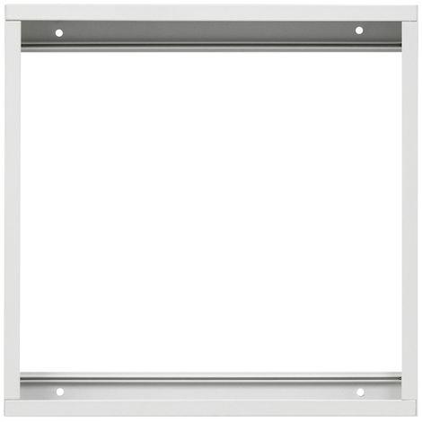 ECD Germany 1x LED Marco de panel 30x30cm - fabricado en aluminio - blanco - para montaje en pared y techo - marco de montaje en marco de montaje en marco carcasa de montaje en superficie