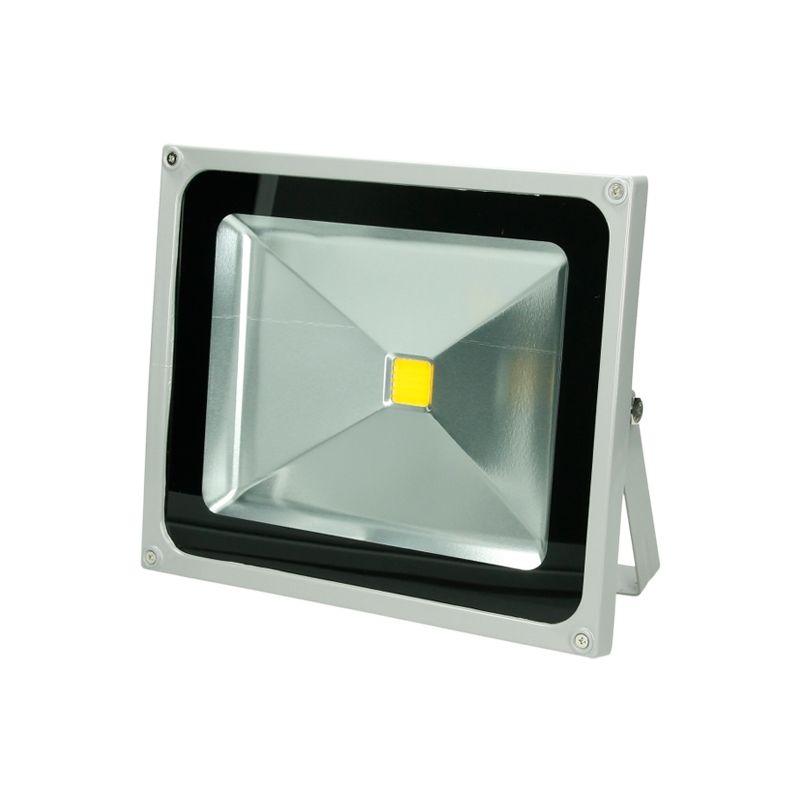 2 x 50W Faretto Proiettore LED AC 220-240V 2585 Luce Bianco Caldo 2800K Luce Faro da Esterno IP65 Impermeabile - Ecd Germany