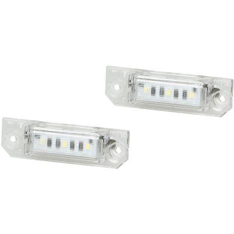 ECD Germany 2 x LED Kennzeichenbeleuchtung mit E-Pr/üfzeichen 3 SMD Kennzeichen Beleuchtung Kennzeichenleuchte Nummernschild Licht