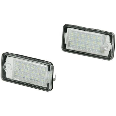 2 x LED Kennzeichenbeleuchtung Kennzeichen Leuchte Xenon Licht 6000K