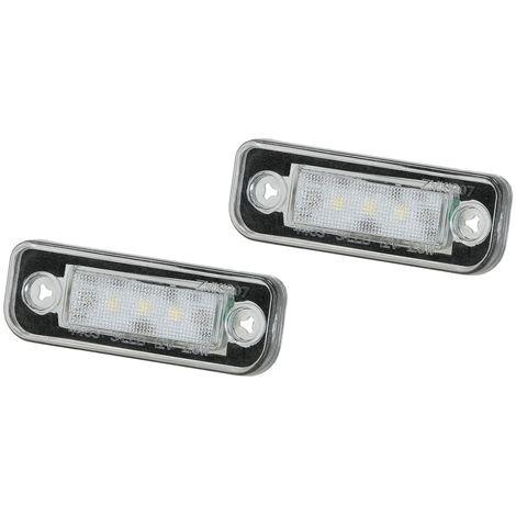 LED Kennzeichen-beleuchtung Nummernschild-Leuchten Lampe Xenon 2er Set