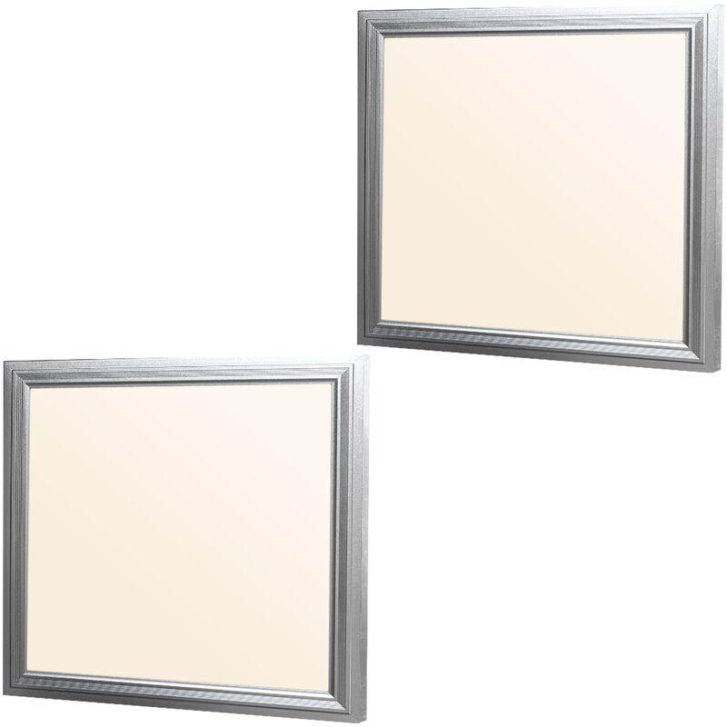 2 x LED Pannello 12W - 30x30 cm Pannello LED Ultra Sottile Bianco Caldo 3000 K 220-240V SMD 3014 738 Lumen Lampada da Soffitto Pannello LED