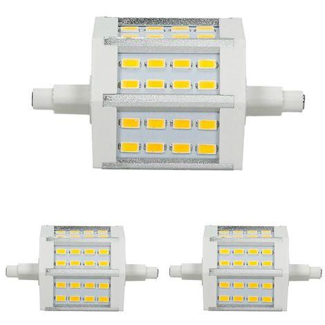 ECD Germany 2 x R7S Bombilla LED 5W 78mm 360 Lúmenes DIMMBAR REGULABLE SMD5730 AC 220-240V 180 ° Ángulo de haz sustituye lámpara halógena 35W Blanco cálido
