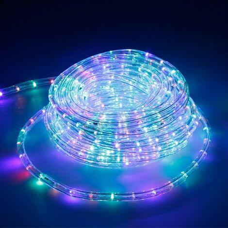 ECD Germany 20m LED Tubo de luz RGB de decoracion exterior - interior Luces LED IP44 220-240V Ø 10.5mm 36LED/m [Clase de eficiencia energética A +]