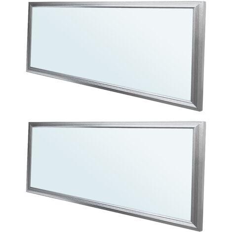 ECD Germany 2x LED Panel ultradelgado con material de montaje 18W - 60 x 30 cm - Blanco frío 6000K - Ultrafino 1450 lumens - Lámpara empotrada en el techo
