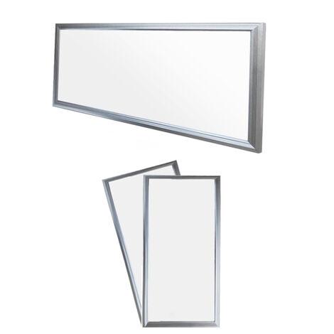 ECD Germany 2x LED Panel ultradelgado con material de montaje 18W - 60 x 30 cm - Blanco neutro 4000K - Ultrafino 1380 lumens - Lámpara empotrada en el techo