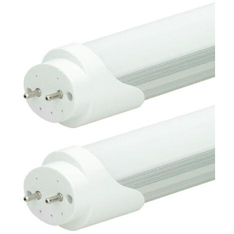 ECD Germany 2x Tubo fluorescente LED T8 G13 - 150 cm - 24W- Tubo LED SMD - 1920 lúmenes - Blanco cálido - para lámpara de rejilla - luz para oficina Lámpara de techo - lámpara de tubo