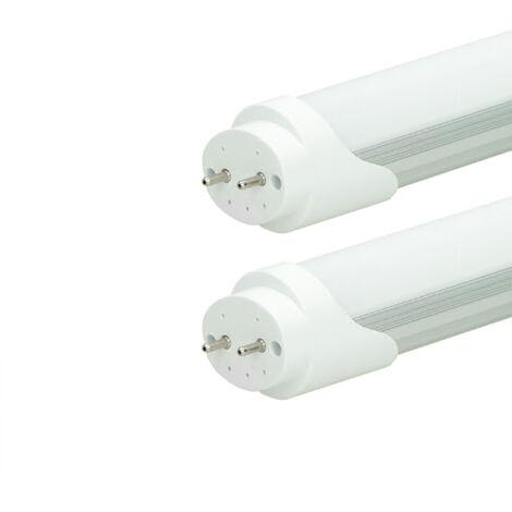 ECD Germany 2x Tubo fluorescente LED T8 G13 - 150 cm - 24W- Tubo LED SMD - 2018 lúmenes - Blanco frío - para lámpara de rejilla - luz para oficina Lámpara de techo - lámpara de tubo