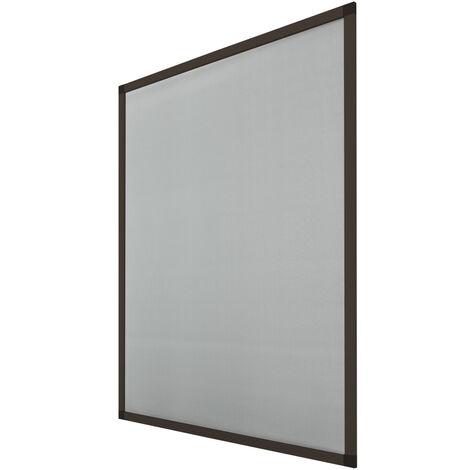 ECD Germany 3 porte grillagée pack avec cadre en aluminium - 120x140 cm - Brown - moustiquaire aux intempéries en tissu en fibre de verre pour fenêtre