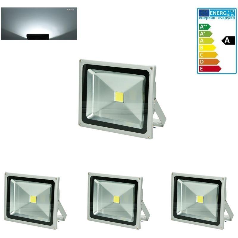 3 x 30 Watt Faretto LED Proiettore Impermeabile Con Piede AC 220-240V 1704 Lumen Bianco Freddo 6000K Luce Faro da Esterno IP65 Impermeabil lunga