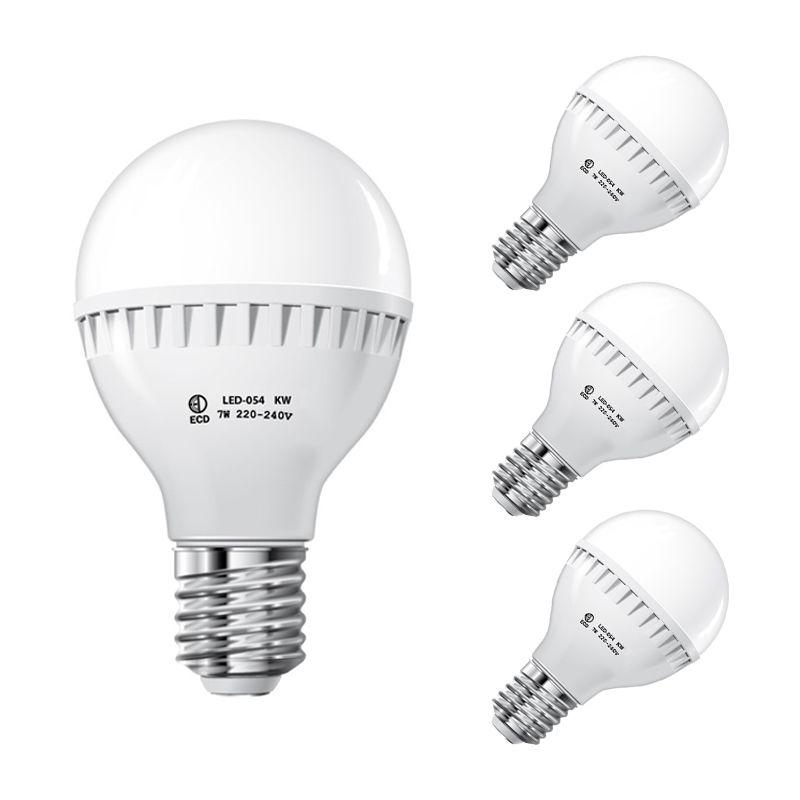 ECD Germany 3 x Lampadina Faretto a LED E27 7W Bianco Freddo 220-240V 458 Lumen 6000K Lampadine LED Decorative Lampada da Tavolo a Risparmio