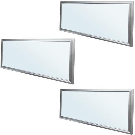 ECD Germany 3x LED Panel ultradelgado con material de montaje 18W - 60 x 30 cm - Blanco frío 6000K - Ultrafino 1450 lumens - Lámpara empotrada en el techo