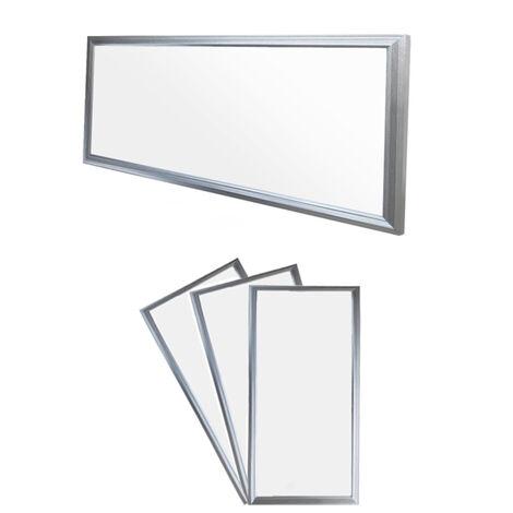 ECD Germany 3x LED Panel ultradelgado con material de montaje 18W - 60 x 30 cm - Blanco neutro 4000K - Ultrafino 1380 lumens - Lámpara empotrada en el techo