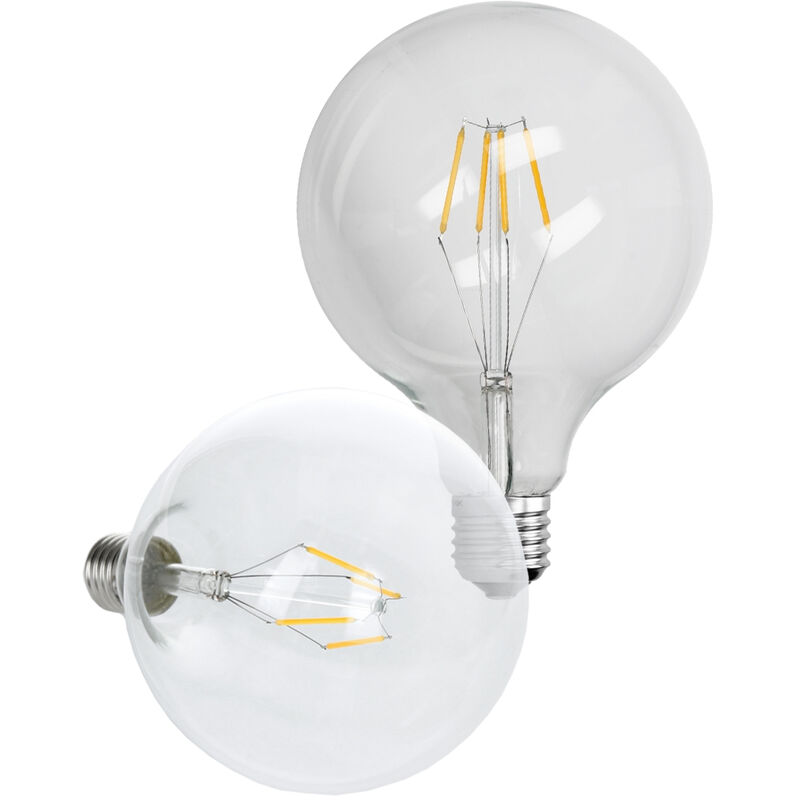 ECD Germany 4 x Lampadina LED a Filamento E27 4W Set Lampadine LED Bianco Caldo 2800K 403 Lumen Angolo del Fascio 120 ? Filamento Lampadina LED E27