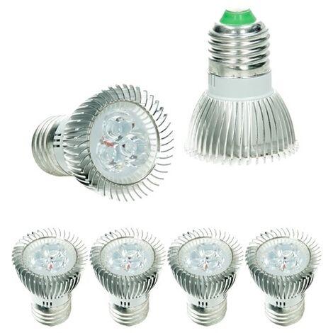 ECD Germany 4x LED Spot 3W E27 - Equivale 20W Halógeno - Ángulo de haz de 30 ° - 217 lúmenes - Blanco frío 6000K - Bombillas LED iluminante