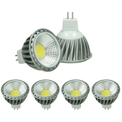 ECD Germany 4x LED Spot 6W COB GU10 - Equivale 40W Halógeno - 220-240V - Ángulo de haz de 60 ° - 378 lúmenes - 2800K Blanco cálido - Lámpara de foco