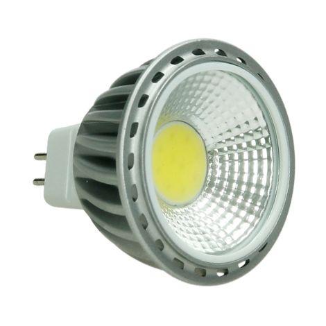 ECD Germany 4x LED Spot 6W COB GU10 - Equivale 40W Halógeno - 220-240V - Ángulo de haz de 60 ° - 378 lúmenes - 4000K Blanco neutro - Lámpara de foco