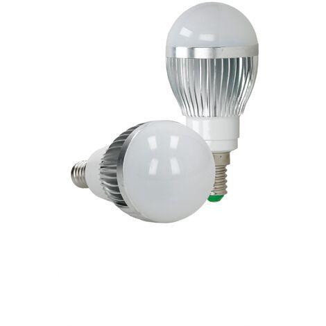 ECD Germany 4x LED Spot regulable 3W E14 RGB - Ángulo de haz de 120 ° - 250 lúmenes - control remoto 24 botones - Lámpara de foco