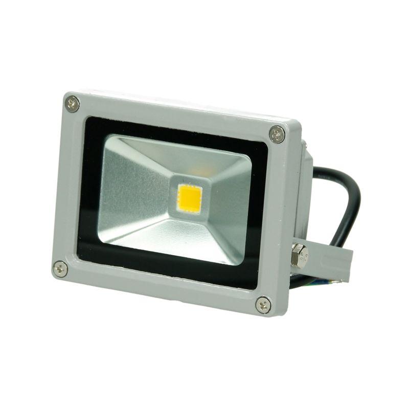 5 x Faretto Proiettore 10W LED AC 220-240V 2585 Luce Bianco Caldo 2800K Luce Faro da Esterno Giardino Cortile Garage IP65 Impermeabile - Ecd Germany