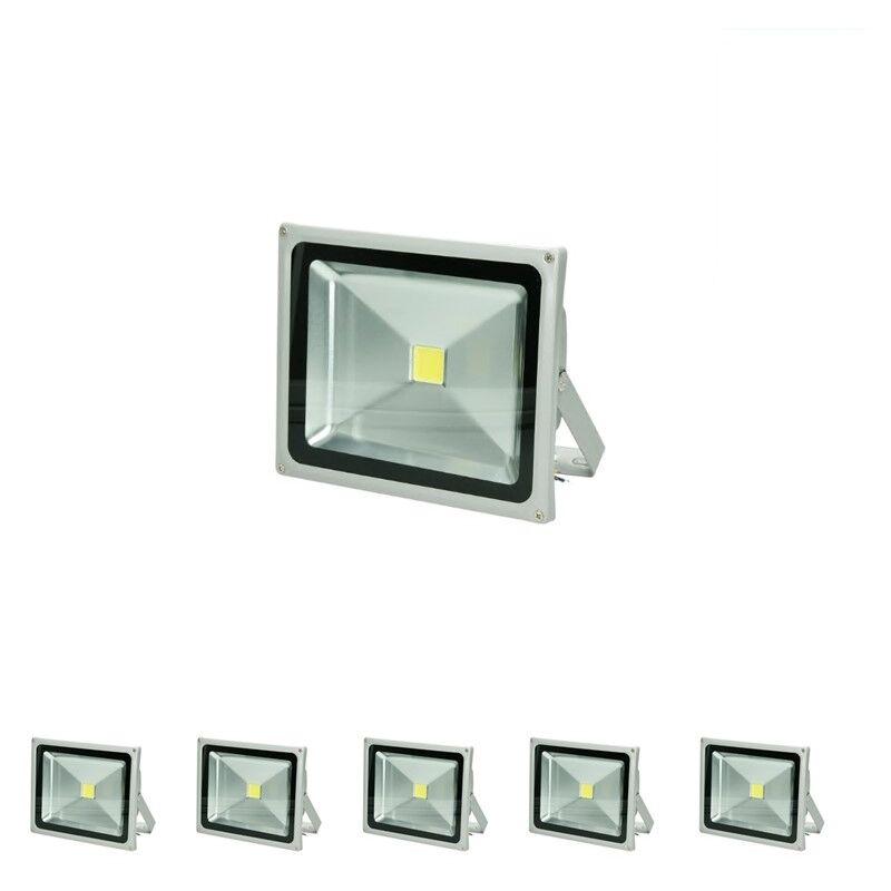 5 x 30 Watt Faretto LED Proiettore Impermeabile Con Piede AC 220-240V 1704 Lumen Bianco Freddo 6000K Luce Faro da Esterno IP65 Impermeabil lunga