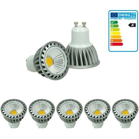 ECD Germany 5 x LED Spot - Equivale 20W Halógeno - 220-240V - Ángulo de haz de 60 ° - 243 lúmenes - 2800K Blanco cálido - Lámpara de foco
