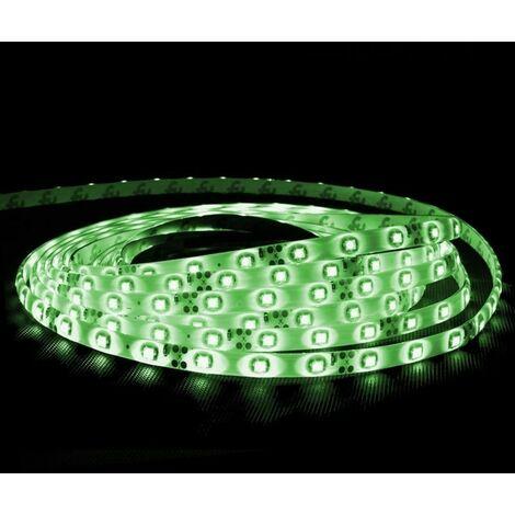 ECD Germany 5m 3528 SMD LED 12V 60 LED / m Tira Cinta Banda LED Luz impermeable Verde
