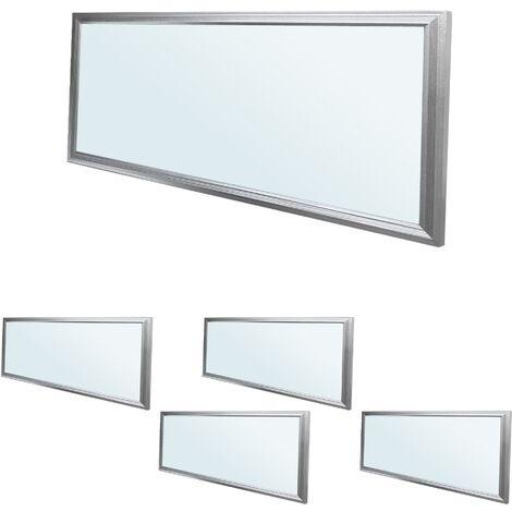 ECD Germany 5x LED Panel ultradelgado con material de montaje 18W - 60 x 30 cm - Blanco frío 6000K - Ultrafino 1450 lumens - Lámpara empotrada en el techo