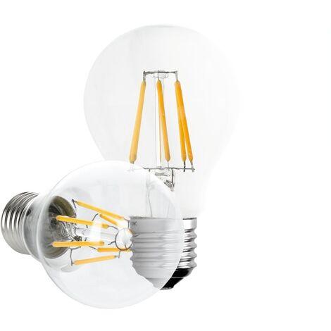 ECD Germany 6 x Bombilla LED Filamento E27 Clásico Edison 6W 612 Lumen 120 ° Ángulo de haz AC 220-240V aproximadamente 40W lámpara incandescente Lámpara blanco cálido