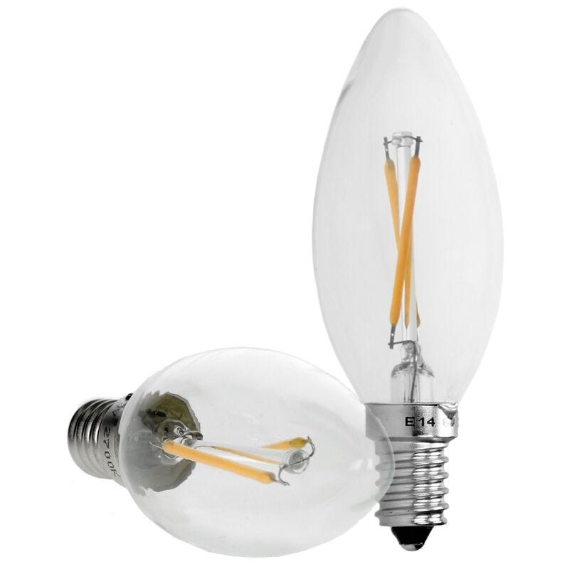ECD Germany 6 x Filamento di Candela a LED - E14 2W - Bianco Caldo 2800K - 204 Lumen - 120 ? Angolo del Fascio - CA 220-240 V - Lampada a