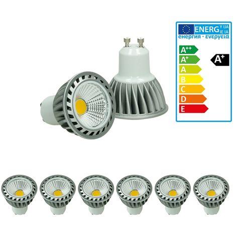 ECD Germany 6 x LED Spot - Equivale 20W Halógeno - 220-240V - Ángulo de haz de 60 ° - 243 lúmenes - 2800K Blanco cálido - Lámpara de foco