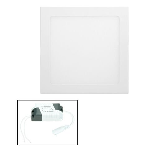 ECD Germany 8 x Foco empotrable ultradelgado LED 18W panel 22 x 22 cm 2835 SMD blanco cálido 3000K 220-240V aproximadamente 1123 lúmenes empotrado luz de techo angular