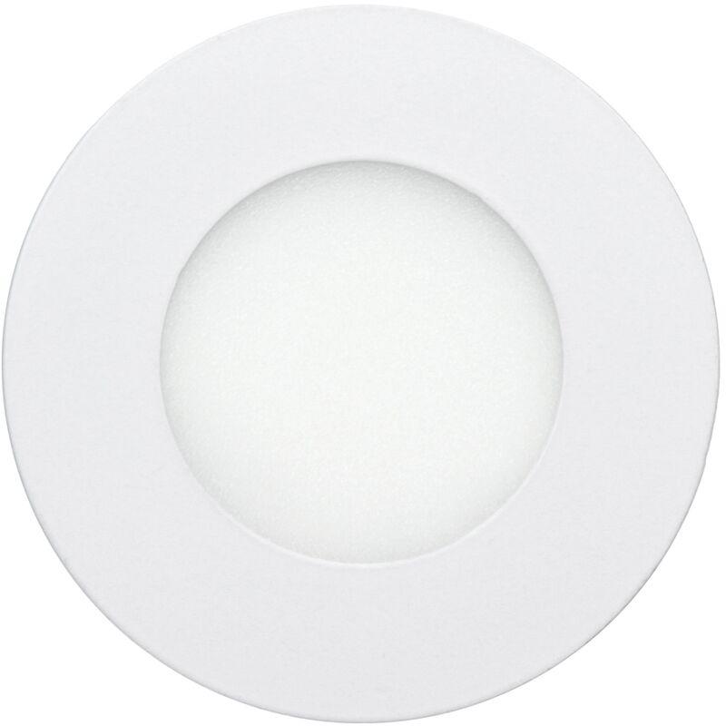 8 x Pannello LED rotondo 3W bianco freddo LED da Incasso Faretto da Incasso a pannello Faretto LED Incasso Lampadina da Incasso Plafoniera da incasso