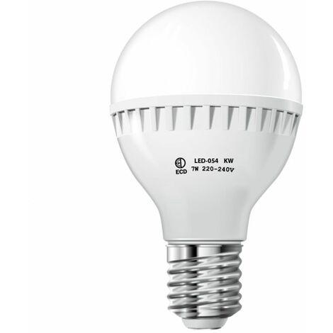 ECD Germany Bombilla LED E27 7W 220-240V 458 lumens Reemplaza lámpara halógena de 45W blanco frío Lámpara ahorradora de energía de 6000K