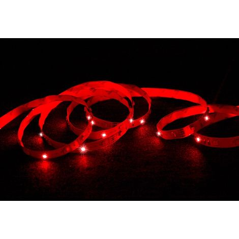 ECD Germany Conjunto 1x 15m (3x5m) Tira LED RGB blanca SMD 3528 + 1x Transformador 5A 60W 12V cable para enchufe de la UE + 1x Control remoto con 24 teclas de 7 colores graduados