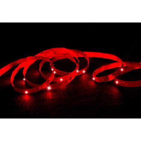 ECD Germany Conjunto 1x 30m (6x5m) tira de LED RGB blanco SMD 3528 + 1x Transformador 5A 60W 12V cable para enchufe de la UE + 1x Control remoto con 44 teclas 20 colores (regulable) 125x56x7mm