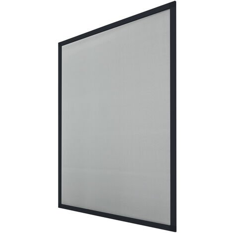 ECD Germany Ensemble de porte 3 écran avec cadre en aluminium - 120x140 - Anthracite - moustiquaire résistant aux intempéries en tissu en fibre de verre pour fenêtre