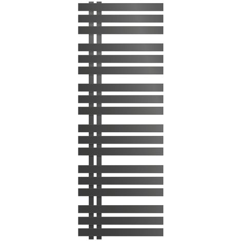 ECD Germany Iron EM Design Badheizkörper - 500 x 1400 mm - Anthrazit - Designheizkörper Paneelheizkörper Heizkörper Handtuchwärmer Handtuchtrockner Heizung Radiator